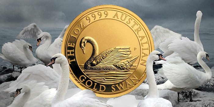 Zlatá investiční mince australská Labuť-Perth Mint 2017 1 Oz