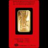 Zlatá cihla rok koně PAMP- zadní strana