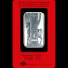 Stříbrná cihla PAMP rok koně-zadní strana