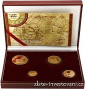 Zlatý set Krugerrand frakce-4 mince