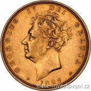 Zlatá mince britský Sovereign-George IV. 1830