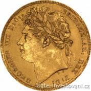 Zlatá mince britský Sovereign-George IV. 1822