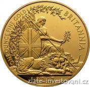 Investiční zlatá mince Britannia 2007