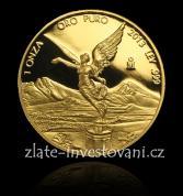 Investiční zlatá mince Libertad -Mexiko