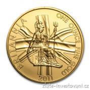 Investiční zlatá mince Britannia 2011