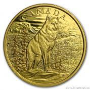 Zlatá mince alfa Vlk 2015- proof Kanada