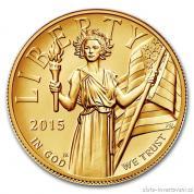 Zlatá mince American Liberty-Eagle 2015-vysoký reliéf proof