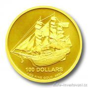 Investiční zlatá mince Bounty-Cook Islands