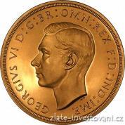 Zlatá mince britská Dvoulibra-George VI. 1937
