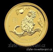 Zlatá mince rok Opice 2016-lunární série II. proof