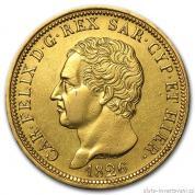 Zlatá mince 80 lira Sardinie-Carlo Felix 1826
