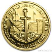 Zlatá mince New Founland-1983 proof-Kanada
