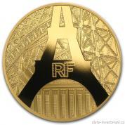 Zlatá mince Eiffelova věž 2014-proof