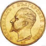 Zlatá mince bulharská 100 leva-Ferdinand I. 1912