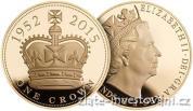 Zlatá mince britská Pětilibra-Nejdéle vládnoucí panovník 2015