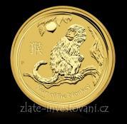 Investiční zlatá mince rok Opice 2016-lunární série II.