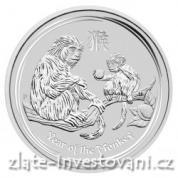 Investiční stříbrná mince rok Opice 2016-lunární série II.