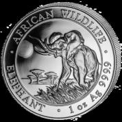 Investiční stříbrná mince somálský slon 2016