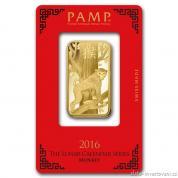 Investiční zlatá cihla rok Opice 2016-PAMP