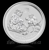 Investiční stříbrná mince rok Opice 2016-lunárné série II.