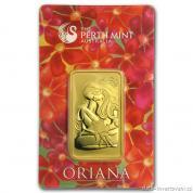Investiční zlatá cihla Oriana -Austrálie Perth Mint