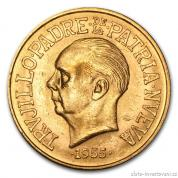 Zlatá mince 30 pesos-Dominikánská republika 1955