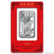 Investiční stříbrná cihla rok Opice 2016-PAMP Švýcarsko