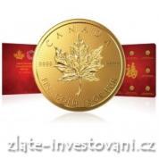 Investiční zlaté mince-kanadský Maplegram-8 g