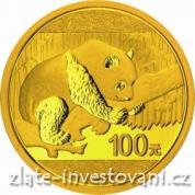 Investiční zlatá mince čínská Panda 2016