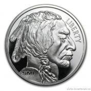 Stříbrný americký bizon-Buffalo