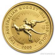 Investiční zlatá mince Australian Kangaroo 2000