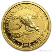 Investiční zlatá mince Australian Kangaroo 2003