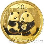 Investiční zlatá mince čínská Panda 2009