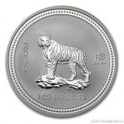 Investiční stříbrná mince rok tygra 2010-lunární série I.