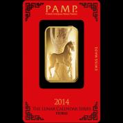 Investiční zlatá cihla PAMP Rok koně  2014