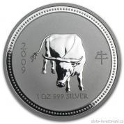 Investiční stříbrná mince rok Buvola 2009-lunární série I.