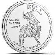 Stříbrná investiční mince Býk a medvěd-Texas
