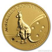 Investiční zlatá mince australský klokan 2009-nugget