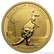 Investiční zlatá mince australský klokan 2012-nugget