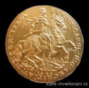 Investiční zlatý dvou dukát 1642-Ferdinand Carl-novoražba