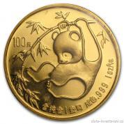 Investiční zlatá mince čínská Panda 1985
