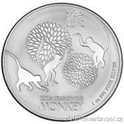 Investiční stříbrná mince rok Opice 2016- Nový Zéland