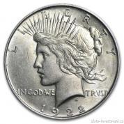 Stříbrná mince americký dolar-Peace dollar