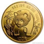 Investiční zlatá mince čínská Panda 1986