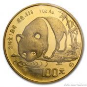 Investiční zlatá mince čínská Panda 1987