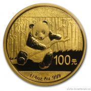 Investiční zlatá mince čínská Panda 2014