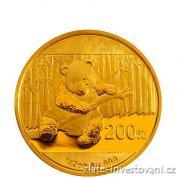 Investiční zlaté mince čínská Panda 2014