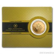 Investiční zlatá mince kanadský Maple leaf- 2007
