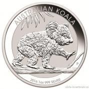 Investiční střbrná mince australská Koala 2016