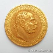 Zlatá mince Stokoruna Františka Josefa I. 1907 -40. výročí korunovace